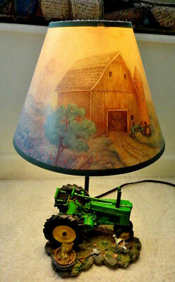 1999 JOHN DEERE Table Lamp Light Lamp Desk Tractor with Shade