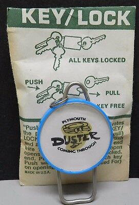 1970 1971 72 Duster Dealer Key Ring Chain Mi Blue 340 Nos Mopar Plymouth Promo