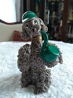 SPAGHETTI WARE GREY POODLE WITH PIPE Sherlock Holmes