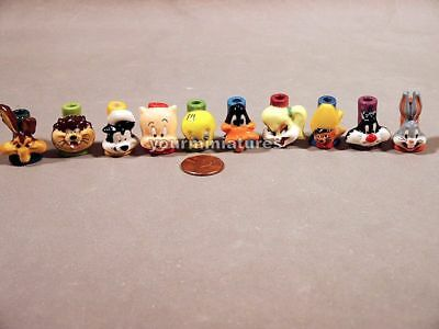 Looney Tunes French Porcelain  Mini Candle Holders MINT