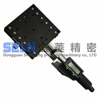 X axis 90X90mm Digital Display Micrometer Manual Linear Stage Platform #U09Q