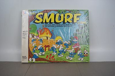VINTAGE- 1981-THE SMURF GAME  - MILTON BRADLEY, 3D  GAME Sealed NOS