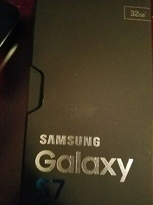 Samsung Galaxy S7 Box Only w/ Tray *NO PHONE* - Black Onyx - 32GB