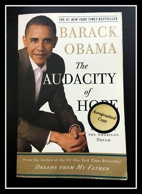 AUTOGRAPHED SIGNED The Audacity of Hope Barack Obama 1ST PB Ed COA FreeS&H NoRes