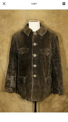 antique vintage french hunting jacket corduroy outerwear rrl workwear 1930