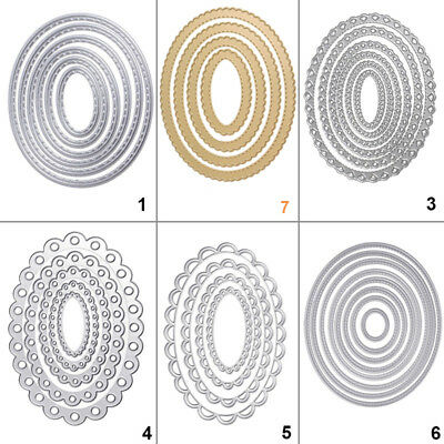 Oval Shape Metal Cutting Dies Stencil DIY Scrapbooking Album Card Embossing Gift