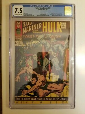 Tales To Astonish #90 CGC 7.5 OW/W (1st app of Abomination) and #91 ungraded