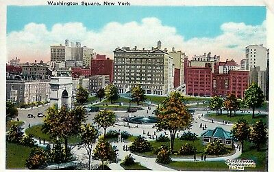 Vintage Postcard Of Washington Square Long Ago In New York City, NY