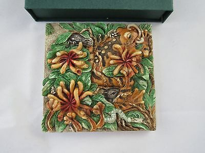 """Picturesque """"A Frog's Life"""" PXGE3 Byron's Secret Garden Magnetic Tile Frogs"""