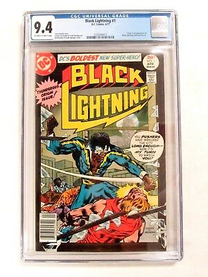 DC Black Lightning #1 (1977) 1st Appearance & Origin CGC 9.4 Off-W/White CM34