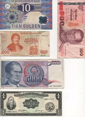 WORLDWIDE Bank Notes - 10x - Various Regions & varying conditions