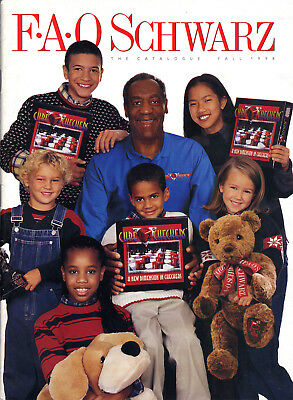 1998 Fao Schwarz Fall Christmas Toy Catalogue - Bill Cosby Front Cover