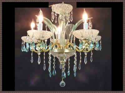 Vintage handmade venetian crystal chandelier antique green leaves vintage handmade venetian crystal chandelier antique green leaves gorgeous lqqk aloadofball Images