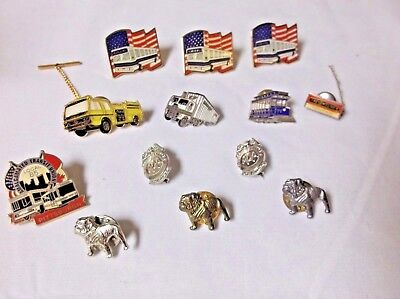 Firetruck, Trucks and TRUCKER'S Union, MAC Dog, & AAA Pin Backs