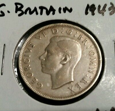 Great Britain Florin, Two Shillings, 1943