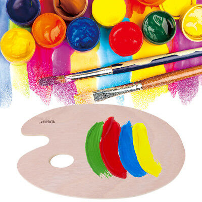 Artist Wood Painting Palette Professional Acrylic/Oil Paint Mixing Craft Tool IS