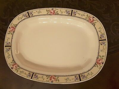 Dessert serving antique plate Edwin knowles china Vitreous goldntrimmed