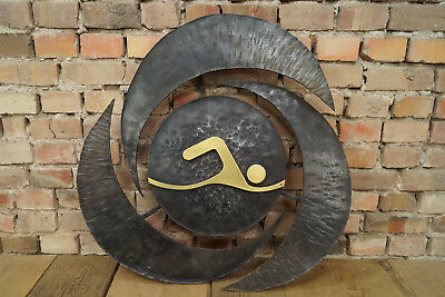 metal object picture Brutalist Wall Decoration Iron Sculpture Olympia Decor