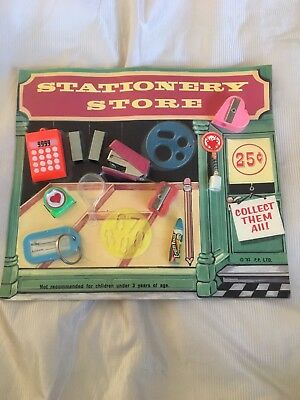 VINTAGE Stationery Store VENDING MACHINE DISPLAY CARD