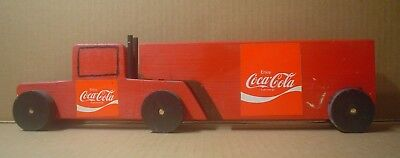 Coca Cola Decorative Handmade Wood Semi Truck