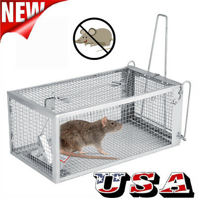 Steel Humane Rat Trap Cage Animal Pest Rodent Mice Mouse Bait Catch Capture US
