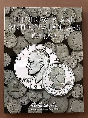 Eisenhower And Susan B Anthony Dollars 1971-1999 - Coin Album Folder Collection