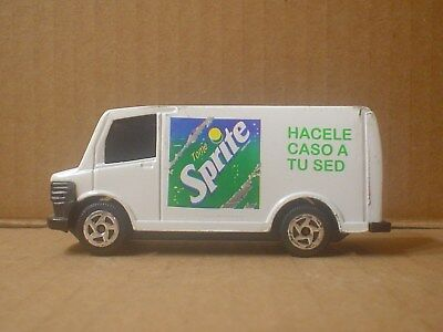 Spanish Sprite Die Cast and Plastic Toy Delivery Truck ~ 1980 Mexico ~ Coca Cola