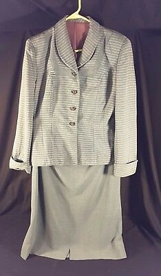 1940s Dress Suit 2 Pc Vintage Skirt Jacket WWII Era