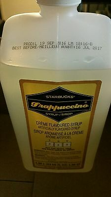 Starbucks Frappuccino Creme Base Syrup Unopened bottle
