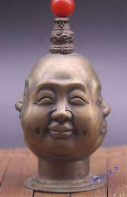 China's Tibet copper snuff bottle the joys and sorrows all sides Buddha