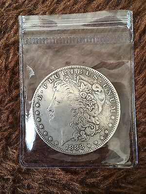 1888 Usa Silver Morgan Dollar Coin. Philadelphia  Mint. United States Of America