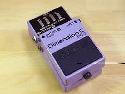 BOSS DC-2 Dimension C Chorus ROLAND  Made in Japan early 80's Vintage Pedal