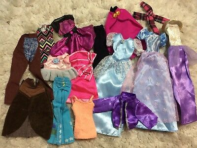 Lot Of Barbie Clothes Random Pieces Dresses Pants Shirts Other Doll Clothes