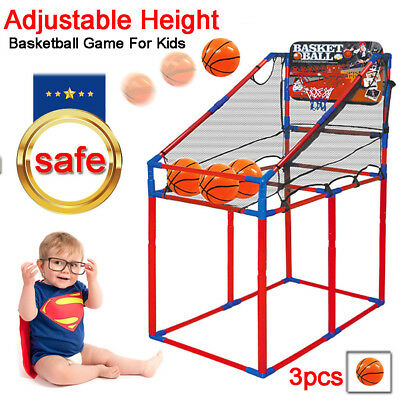 AU Arcade Basketball Game Toys Kids Indoor Outdoor Fun Air Pump Ball Ring Hoops