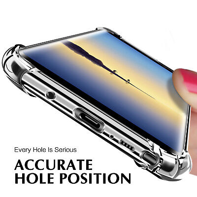 For Samsung Galaxy Note 8 S8 Plus S7 Shockproof Clear Slim Hard PC Case Cover