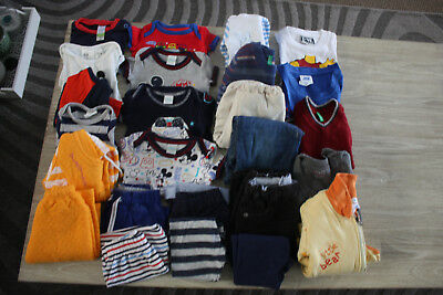 25 Pcs Of Mixed Baby Boy Clothes Size 3-9Mnths