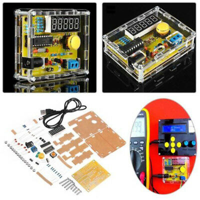 DIY Kits 1Hz-50MHz Crystal Oscillator Tester Frequency Counter Meter + Case Nice