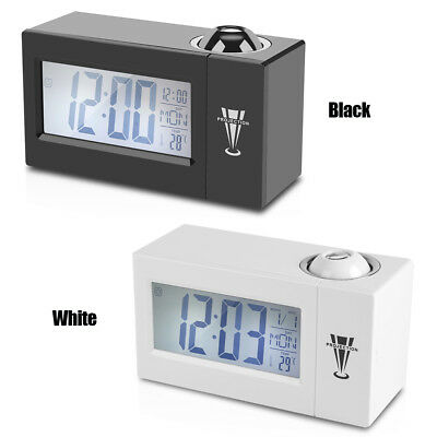 Snooze Voice Talking LCD Digital Projection Wall Backlight Alarm Clock Weather