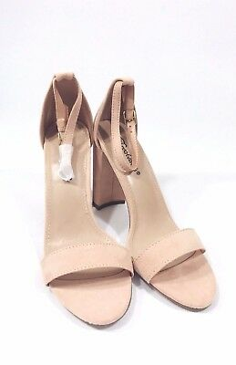 Breckelles heels size 7.5 block heel open toed ankle strap new fashion outfit