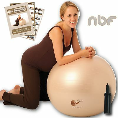 65cm Natural Birth & Fitness Birthing Ball & Pump - NBF Birth Ball