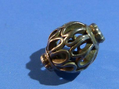 Antique Asia Minor Middle Eastern India Silver Bead Complex 13 By 10 Mm Last