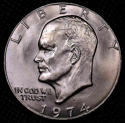 $1 1974 D Eisenhower IKE raw ungraded UNC (G2-369)