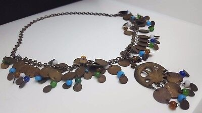 Antique Middle Eastern Necklace, Heavy , good condition