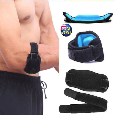 Adjustable Tennis Elbow Support Strap Brace Golf Forearm Pain Relief Bandage MN