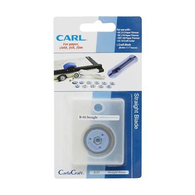 GENUINE CARL B-01 STRAIGHT BLADE REPLACEMENT for TRIMMER **NEW IN PACK**