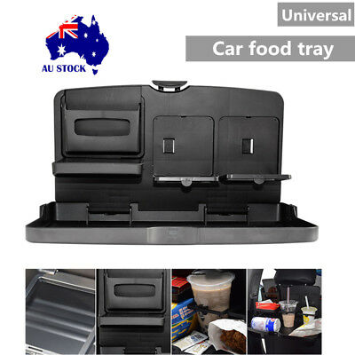 Folding Auto Car Back Seat Dining Table Drink Cup Tray Food Holder Stand Desk AU