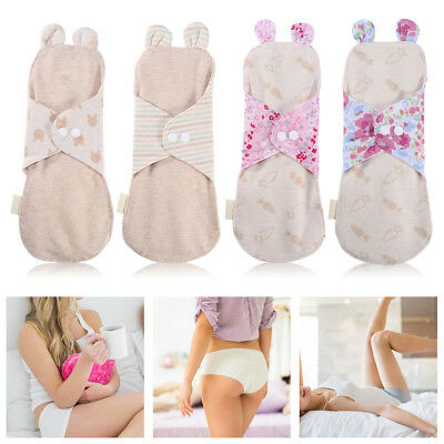250mm Reusable Organic Cotton Menstrual Pads Washable Day&Night Panty Liner