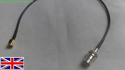 30cm SMA Male to BNC Female pigtail cable RG174