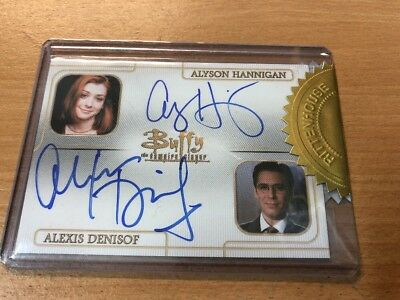 Buffy The Vampire Slayer Set Series 3 Alyson Hannigan/Alex Denisof Dual Auto