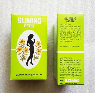 German Sliming Herb Sliming Tea Burn Diet Slim Fit Fast Detox Laxative 50 Bags